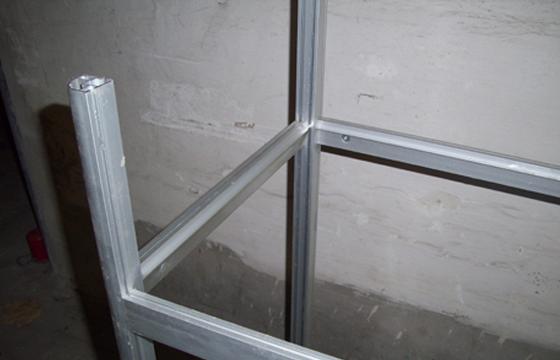 Aufbau Glas-Vitrinentisch